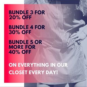Bundle discounts on every item every day!
